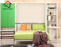 Fashion useful adjustable folding bed mechanism murphy wall bed wardrobe closet