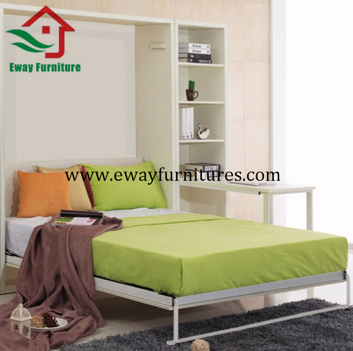 Fashion useful adjustable folding bed mechanism murphy wall bed wardrobe closet  3
