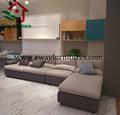 Modern design murphy bed folding wall bed 2