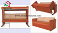 New design fashion folding wall bed murphy bed with sofa bed 4