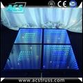 wedding or show events 3D dance floor tiles for disco rgb led dance floor mats  1
