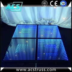 wedding or show events 3D dance floor tiles for disco rgb led dance floor mats