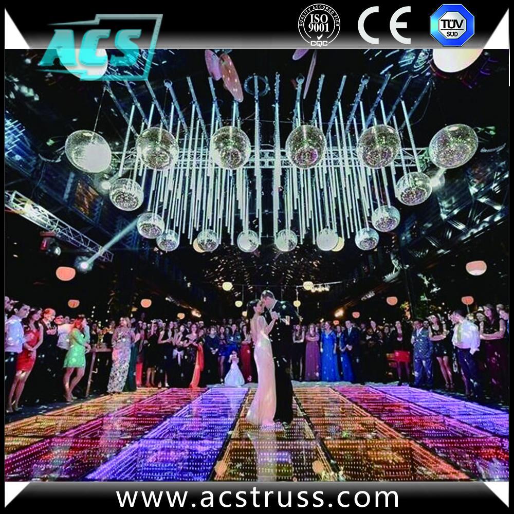 wedding or show events 3D dance floor tiles for disco rgb led dance floor mats  5