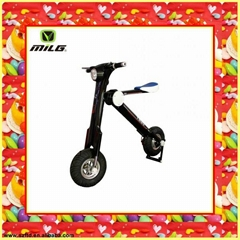 New products 2 wheeled scooter with roof and led light
