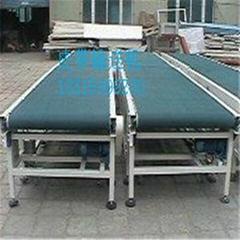 北京自动绿色PVC中型皮带输送机价格