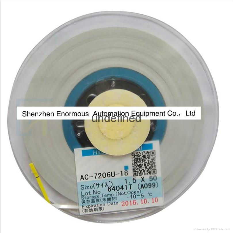 ACF Tape Conductive Adhesive for TV LCD Glass Flex Cable Bonding AC-7206U-18 2