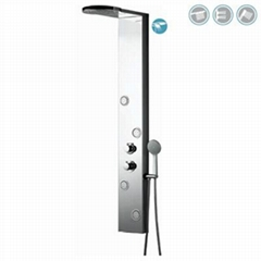 Comfortable Life Style Stainless Steel Shower Panel with Thermostatic Faucets