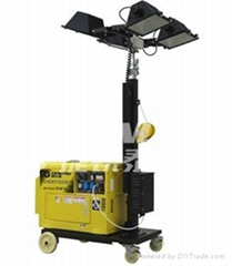4X500W MOBILE LIGHTING TOWER WITH 5KW SILENT DIESEL GENERATOR