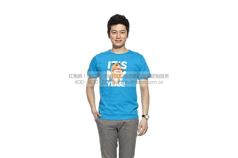 【针织】 定制款男式T恤 运动圆领短袖 1