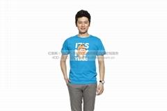 【针织】 定制款男式T恤 运动圆领短袖