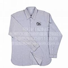 厂家衬衫定制logo 工作衬衫定做