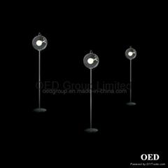 European Classic Soap Bubble Floor Lighting Simple Modern Transparent Glass Lamp