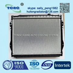 Hot sale aluminum auto radiator for TOYOTA TOCOMA AT