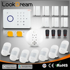 Lookdream Smart Security GSM Burglar Wireless Home Alarm System for The House