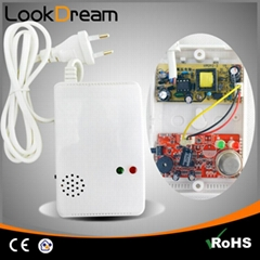 Lookdream Natural Flammable LPG Natural Gas Detector for Home Security