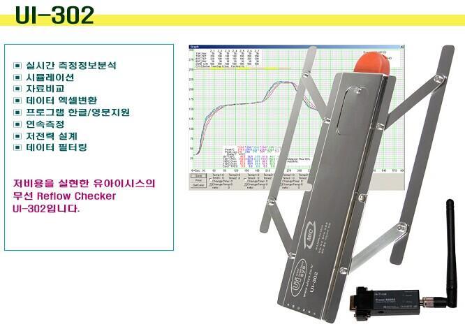 韓國UISYS回流爐溫度測試儀UI-302 1