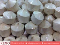 Diamond cut coconut