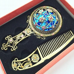 Mirror Comb Gift Set Color Box For Girlfriend Pocket Handheld Mirrors