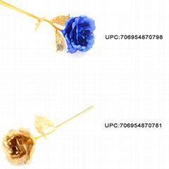 24K Golden Flower Christmas Present Valentine Rose Wedding Accessory