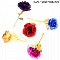 24K Golden Flower Christmas Present Valentine Rose Wedding Accessory 3