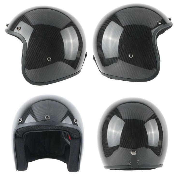Wholesale Composite Carbon Fiber Open Face Helmet Scooter Motorcycle Helmet 1