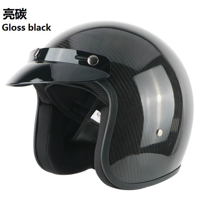 Wholesale Composite Carbon Fiber Open Face Helmet Scooter Motorcycle Helmet 2