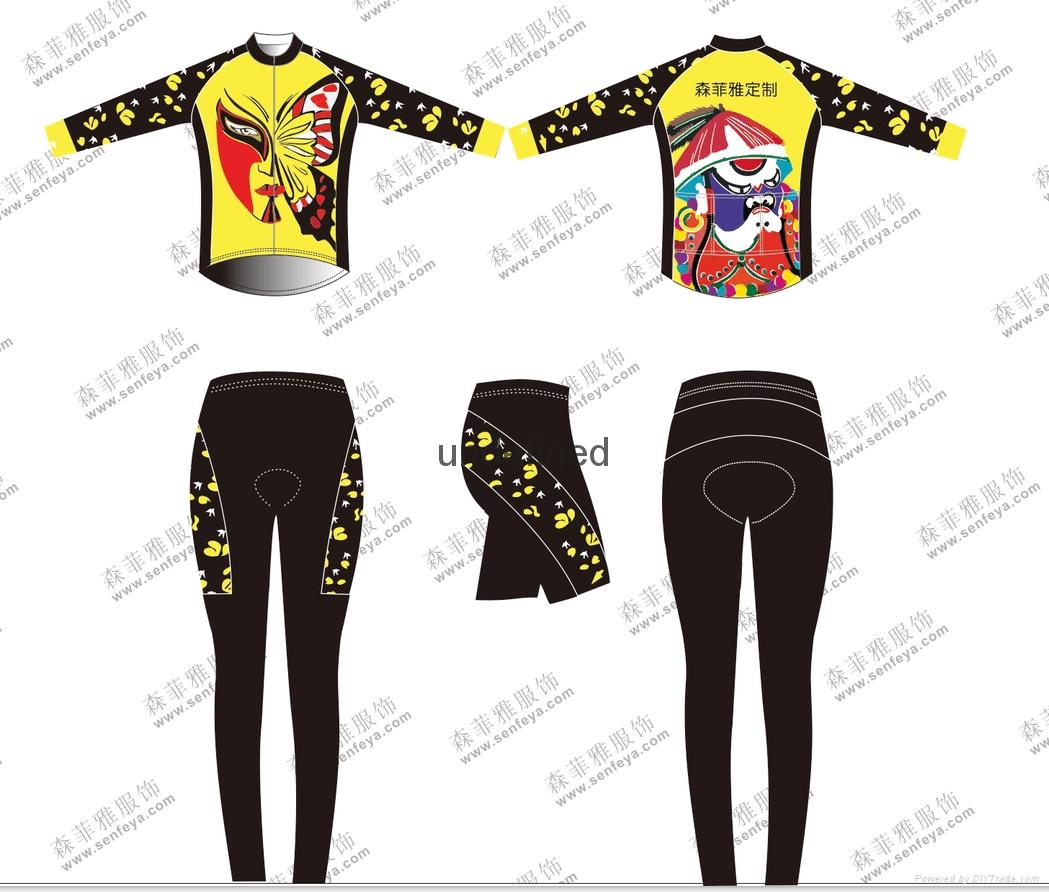 骑行服女款短袖套装春夏季户外骑行运动装备靓丽修身中国风 1