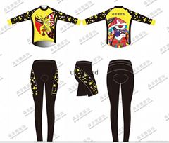 骑行服女款短袖套装春夏季户外骑行运动装备靓丽修身中国风
