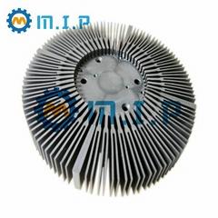 machined round aluminum led heatsink