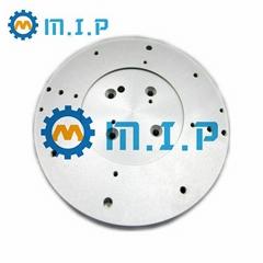 machined round aluminum plate