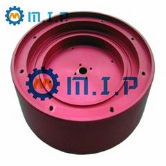 machined round aluminum heatsink