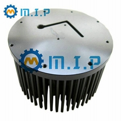machined round aluminum led cooler