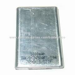 Li-ion battery cell 063450 1000mAh