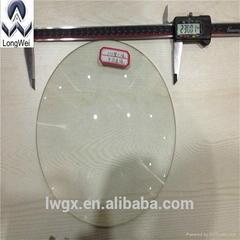 diameter 230mm round  optical glass plano convex lens for optical instrument