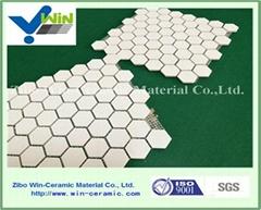 Alumina hexagon mat mosaic tile wear resistant material