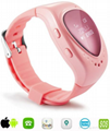 Heart-shaped Smart watch GPS LBS WIFI Tracker for Boys and Girls Google map Smar 1