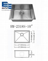 SUS304 Undermount Stainless Steel Sink 10 deep