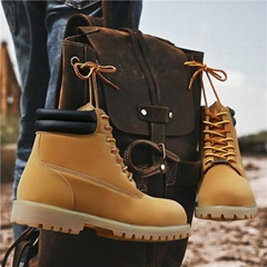 Brand-new Wheat Waterproof leather  Mens Boots