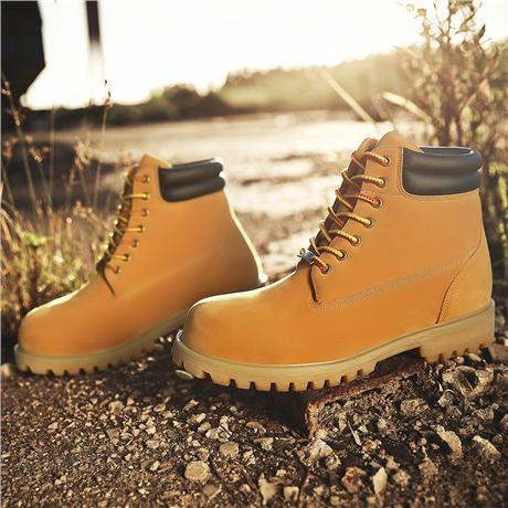 Brand-new Wheat Waterproof leather  Mens Boots 3