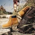 Brand-new Wheat Waterproof leather  Mens Boots 5