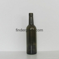 High quality 375ml bvs finish bordeaux wine bottle for for Wine bottle material