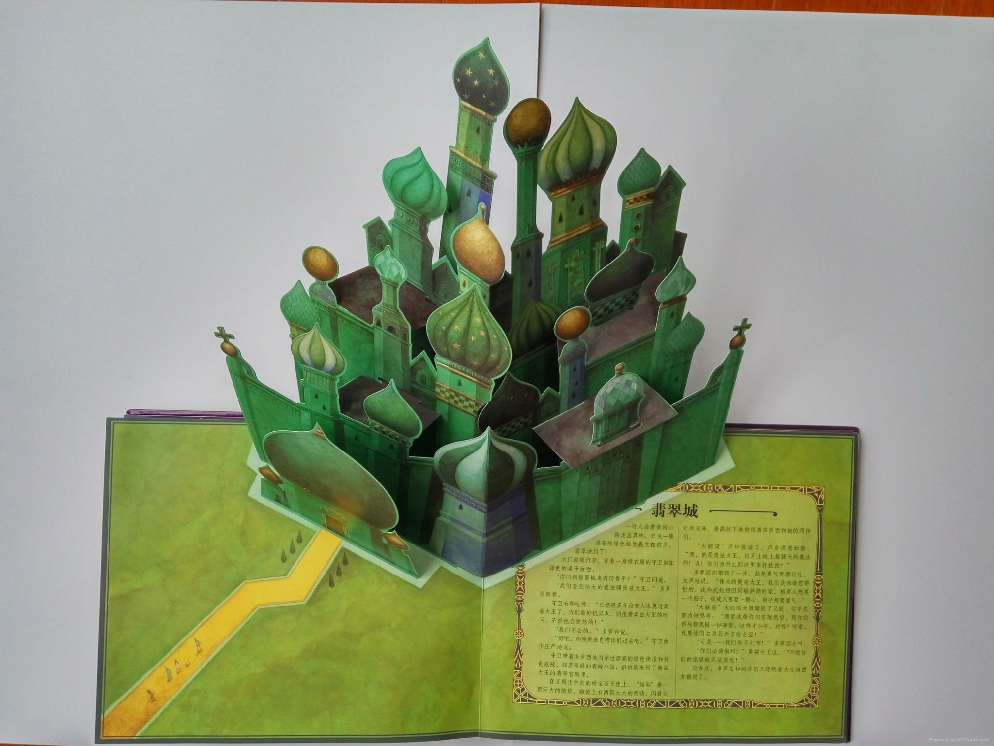 Offset Printing Education Book 3d Pop Up Book For