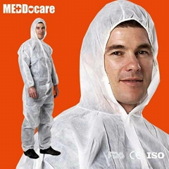 Hospital Chemical Painting Hooded Non Woven Tyvek Coverall Type 3 4 5 Disposable