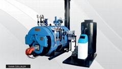 3 Pass Scotch Type Full Cylindirical Gas-Liquid Fuel Fired Steam Boiler