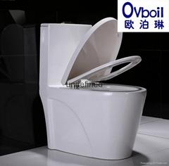 虹吸式连体马桶节能座便器陶瓷洁具坐式大便器OEM贴牌
