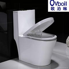 厂家直销陶瓷马桶座便器超漩虹吸式连体节能坐厕大便器