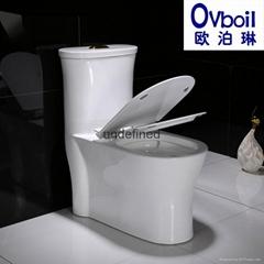 马桶陶瓷连体座便器洁具卫浴节能坐厕承接酒店工程OEM