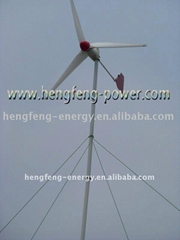 恆風1kw小型家用離網拉索塔永磁力發電機