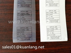 Transparent Thermal Label Thermal Label Rolls Thermal Adhesive Sticker