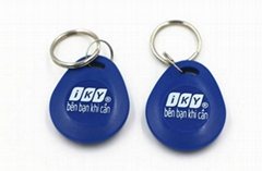 ABS RFID Key Fob For Access Control, Customized Key Tags